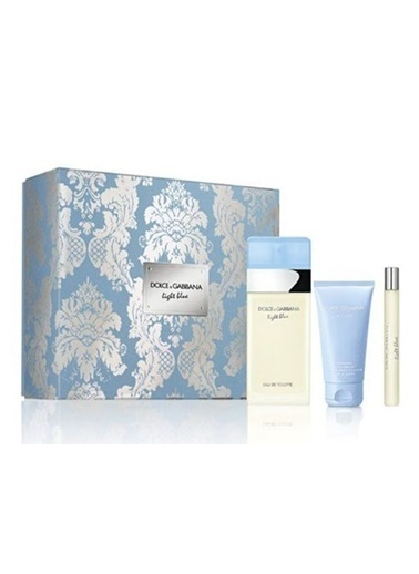 Dolce&Gabbana Light Blue Edt 100 Ml + Body Cream 50 Ml + Edt 10 Ml Renksiz